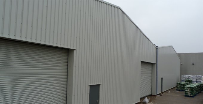 Simple workshop units in an industrial estate